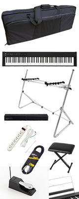 【SonicBarセット(シルバー)】 Korg(コルグ) / D1 スピーカーレス デジタルピアノ 「譜面立て・ダンパーペダル・ヘッドホン付き」 〜数量限定ワイヤレスヘッドホン付き〜 3大特典セット