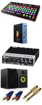 Image-Line(イメージライン) / FL Studio 20 Signature 【通常版】 & Akai(アカイ) / FIRE UR22mkII DTM初心者セットB 3大特典セット