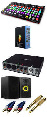 Image-Line(イメージライン) / FL Studio 20 Signature 【通常版】 & Akai(アカイ) / FIRE Rubix24 DTM初心者セットB 3大特典セット