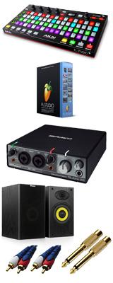 Image-Line(イメージライン) / FL Studio 20 Signature 【通常版】 & Akai(アカイ) / FIRE Rubix22 DTM初心者セットB 3大特典セット