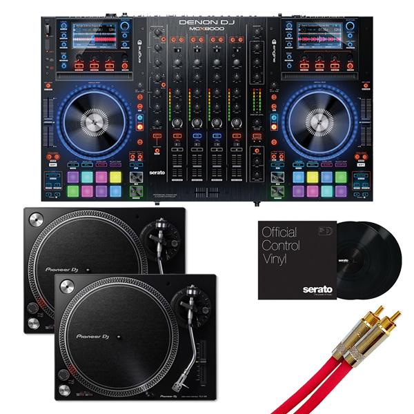 Denon(デノン)/MCX8000 【Serato DJ Pro無償】 PLX-500-K DVSセット 8大特典セット