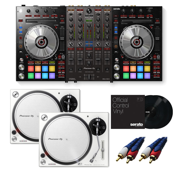Pioneer(パイオニア) / DDJ-SX3 【Serato DJ Pro対応 Serato Flip+P'NT DJ同梱】 PLX-500-W DVSセット 8大特典セット