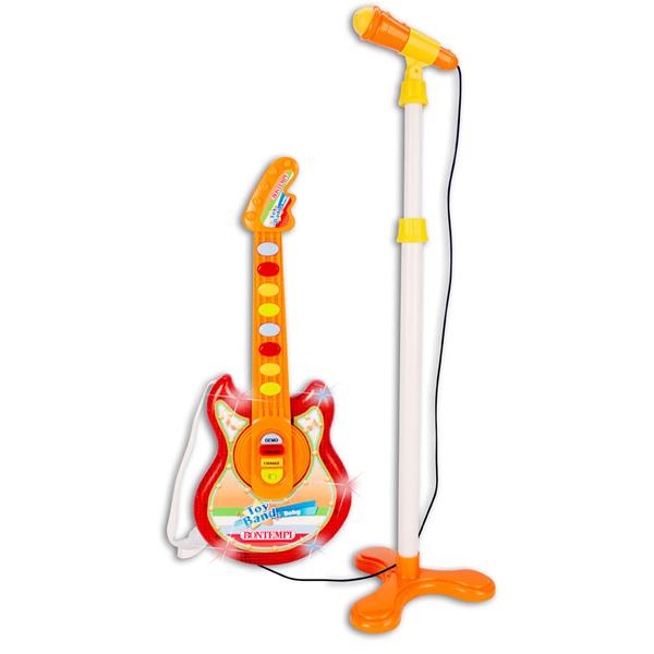 Bontempi(ボンテンピ) / Baby Rock Guitar スタンドマイク付き (24 5025) おもちゃのロックギター 【正規輸入品】