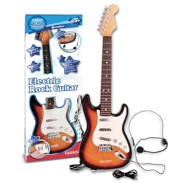 Bontempi(ボンテンピ) / Electric Rock Guitar ヘッドセットマイク付き (24 1310) おもちゃのロックギター 【正規輸入品】