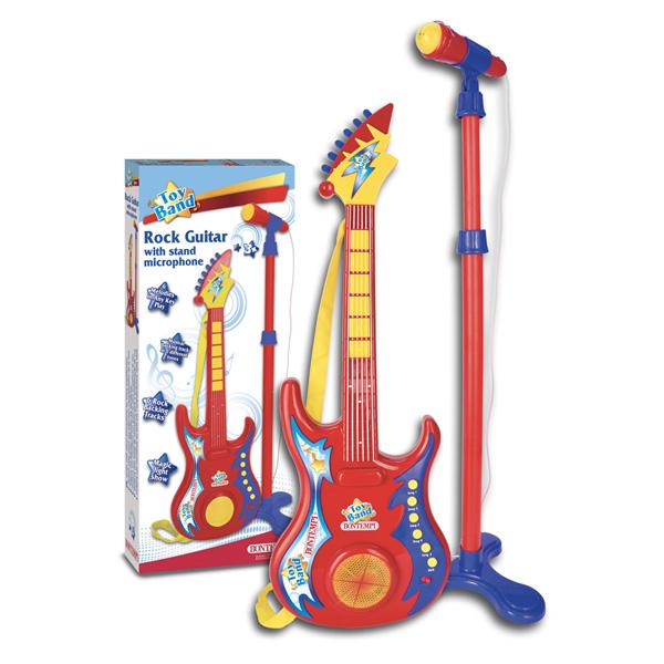 Bontempi(ボンテンピ) / Electronic Rock Guitar スタンドマイク付き (24 7020) おもちゃのロックギター 【正規輸入品】
