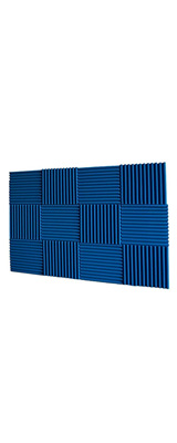 Mybecca / Acoustic Panels Studio Foam Blue (30.5×30.5 x 2.5cm) 12個パック - 吸音材 -