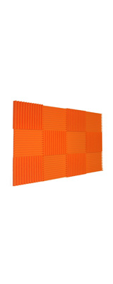 Mybecca / Acoustic Panels Studio Foam Orange (30.5×30.5 x 2.5cm) 12個パック - 吸音材 -