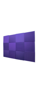 Mybecca / Acoustic Panels Studio Foam Purple (30.5×30.5 x 2.5cm) 12個パック - 吸音材 -