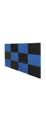 Mybecca / Acoustic Panels Studio Foam Charcoal / Blue (30.5×30.5 x 2.5cm) 12個パック - 吸音材 -