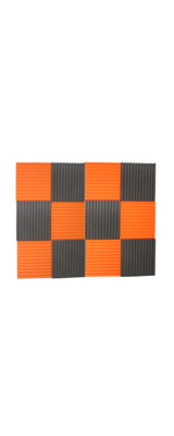 Mybecca / Acoustic Panels Studio Foam Charcoal / Orange (30.5×30.5 x 2.5cm) 12個パック - 吸音材 -