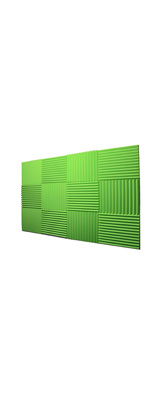 Mybecca / Acoustic Panels Studio Foam Green lime (30.5×30.5 x 2.5cm) 12個パック - 吸音材 -