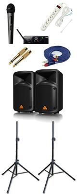 【ワイヤレスマイク1本PAセット】Behringer(ベリンガー) / EPS500MP3 EUROPORT / WMS40 PRO MINI VOCAL SET 《講演 ・イベントに最適》