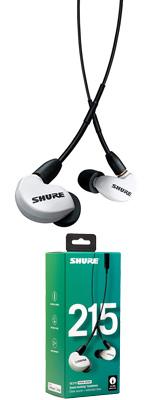 Shure(シュアー) / SE215SPE-W-UNI-A ホワイト カナル型 高遮音性 リモコン・マイク付きイヤホン 【UNIケーブル付属】 1大特典セット
