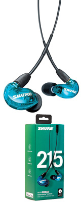 Shure(シュアー) / SE215SPE-B-UNI-A トランスルーセントブルー カナル型 高遮音性 リモコン・マイク付きイヤホン 【UNIケーブル付属】 1大特典セット