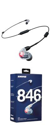 Shure(シュアー) / SE846-CL+BT1-A クリスタルクリア Bluetooth カナル型 高遮音性イヤホン 【ワイヤレスケーブル/リモコン・マイク付きケーブル付属】 1大特典セット