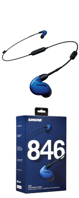 Shure(シュアー) / SE846-BLU+BT1-A ブルー Bluetooth カナル型 高遮音性イヤホン 【ワイヤレスケーブル/リモコン・マイク付きケーブル付属】 1大特典セット