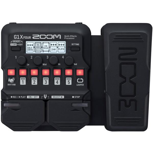 Zoom(ズーム) / G1X FOUR - マルチエフェクツ・プロセッサー エクスプレッションペダル搭載モデル - 《マルチエフェクター》 【1月下旬発売予定】