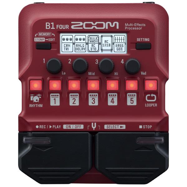 Zoom(ズーム) / B1 FOUR Bass Multi-Effects Processor - ベース マルチエフェクター - 【今春発売予定】