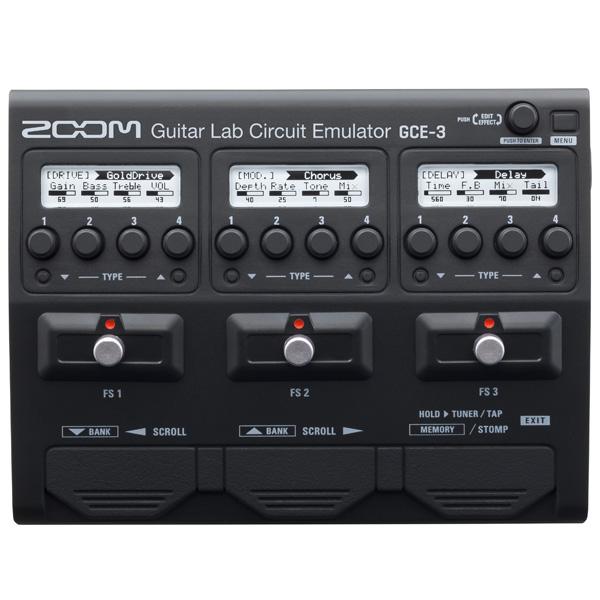 Zoom(ズーム) / GCE-3 Guitar Lab Circuit Emulator - ギター ベース USBオーディオインターフェイス 「Cubase LE」がバンドル -