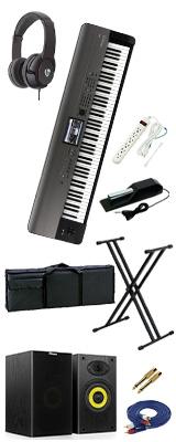 【豪華オプションセット】 Korg(コルグ) / KROME-88 EX ( 88鍵盤 ) - デジタルシンセサイザー - 3大特典セット