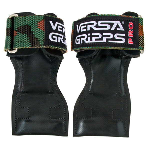 Versa Gripps(バーサグリップ) / Versa Gripps PRO Camouflage Sサイズ - パワーグリップ トレーニングアクセサリー -