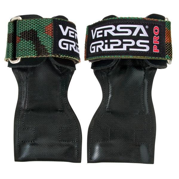 Versa Gripps(バーサグリップ) / Versa Gripps PRO Camouflage Lサイズ (約18〜20cm) - パワーグリップ トレーニングアクセサリー -