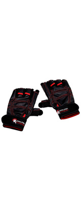 Dark Iron Fitness(ダークアイアンフィットネス) / LEATHER GYM GLOVES(L size) - 3.5〜4インチ トレーニンググローブ 手袋 -