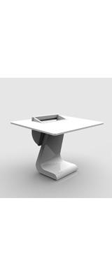 Zaor(ザオール) / iDesk S19 White Gloss - DTMテーブル / 音楽スタジオデスク / スタジオワークステーション - ※個別受注生産(納期:約4ヶ月) ※送料別途お見積もり