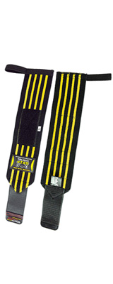 Grip Power Pads / Deluxe Wrist Wraps (Yellow) 13インチ リストラップ  1ペア