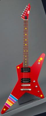 ■ご予約受付■ BanG Dream! / ESP×バンドリ! ガールズバンドパーティ! Collaboration Poppin'Party Series 戸山香澄 Model [RANDOM STAR Kasumi III -LED-] エレキギター 「Gig Bag付き」 【受注生産品】