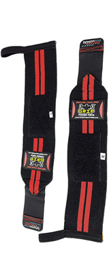 Grip Power Pads / Deluxe Wrist Wraps (Red) 13インチ リストラップ