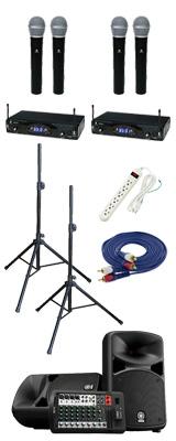 【KWSワイヤレスマイク4本セット】STAGEPAS_600BT / KWS-2H/H 《講演 ・イベントに最適》 3大特典セット