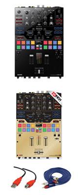 Pioneer(パイオニア) / DJM-S9 専用スキン(BRUSHED GOLD) セット - SERATO DJ専用2CHミキサー- 2大特典セット