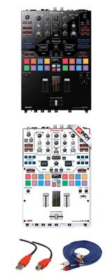 Pioneer(パイオニア) / DJM-S9 専用スキン(WHITE/BLACK) セット - SERATO DJ専用2CHミキサー- 2大特典セット