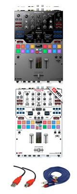 Pioneer(パイオニア) / DJM-S9-S 専用スキン(WHITE/BLACK) セット - SERATO DJ専用2CHミキサー- 2大特典セット