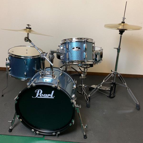 【限定カラー】 Pearl(パール) / ROADSHOW 小口径セット 【RS584C/C #703(アクアブルーグリッター)】 - コンパクト・ドラムセット -