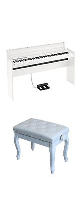 ■ご予約受付■ 【猫足ベンチセット】 Korg(コルグ) / LP-180-WH (ホワイト) - デジタルピアノ - 【専用スタンド + 3本ペダル 付属】 1大特典セット