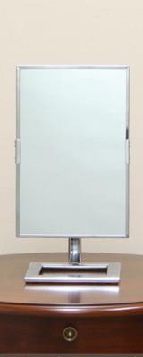 卓上ミラー (クロム) [鏡面 約19×30cm / 高さ 約39cm] 卓上型テーブルミラー