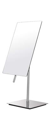 卓上ミラー (クロム) [鏡面 約13×21cm / 高さ 約32cm] 卓上型テーブルミラー