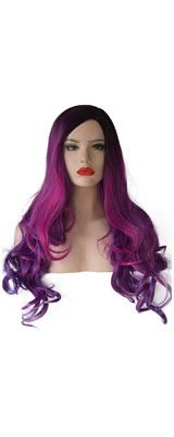SEIKEA / Long Purple Hair Wig レディース ウィッグ かつら グラデーション パープル 【コスプレ ハロウィン】