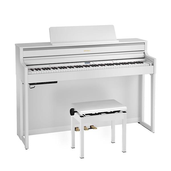 Roland(ローランド) / HP704-WHS ( ホワイト ) - デジタルピアノ 電子ピアノ -【専用高低自在椅子・ヘッドホン・楽譜集付き】