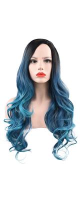 SEIKEA / Long Blue Hair Wig レディース ウィッグ かつら グラデーション ブルー 【コスプレ ハロウィン】