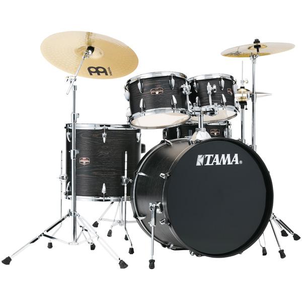 【基本セット】 TAMA(タマ) / IMPERIALSTAR(インペリアルスター) [IE52KH6HC-BOW(ブラック・オーク・ラップ)] - 22インチバスドラムセット -