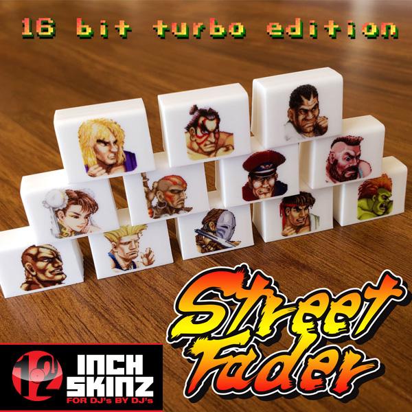 12inch SKINZ / Fader Caps 12個セット (Universal Fit 仕様) 【Street Fader II Turbo モデル】 フェーダーノブ用キャップ