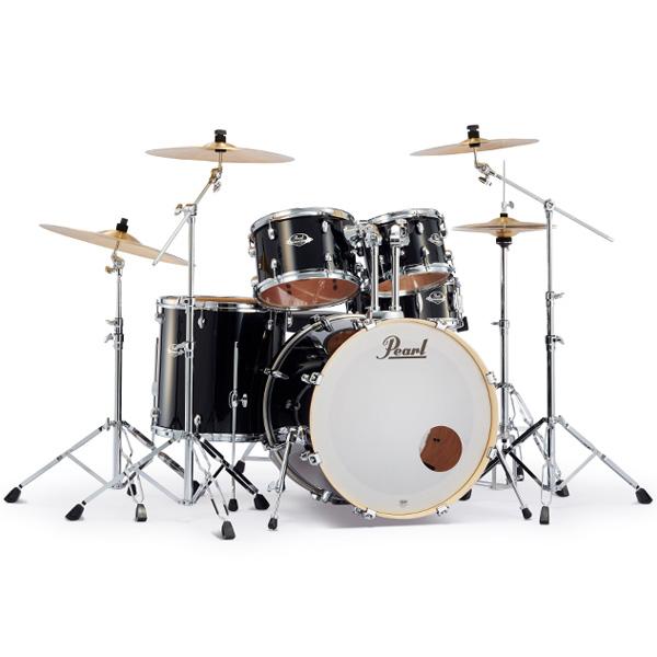 Pearl(パール) / EXPORT 2クラッシュシンバルパック [ジェットブラック] 【EXX725S/C-2CSN 31】 ドラム一式セット シンバル付フルセット