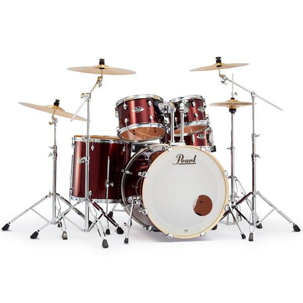 Pearl(パール) / EXPORT 2クラッシュシンバルパック [バーガンディ] 【EXX725S/C-2CSN 760】 ドラム一式セット シンバル付フルセット