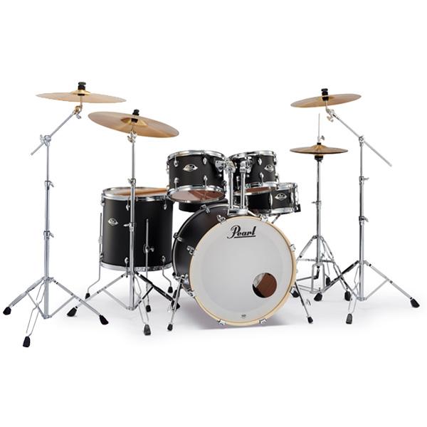 Pearl(パール) / EXPORT 2クラッシュシンバルパック [サテンシャドーブラック] 【EXX725S/C-2CSN 761】 ドラム一式セット シンバル付フルセット