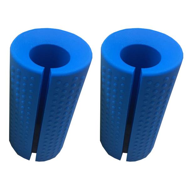 Perfect Grip / Fat Silicone Barbell Grip (Blue) 2個1セット 【長さ 約10cm / 直径 約5cm】 ダンベルカール バーベルカール ラットプルダウン ベンチプレス