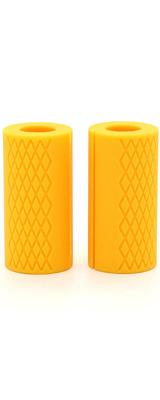 Perfect Grip / fat Silicone Barbell Grip(Yellow) ダンベルカール バーベルカール ラットプルダウン ベンチプレス