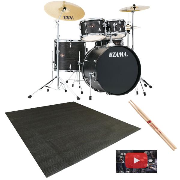 【ドラムマット付き】 TAMA(タマ) / IMPERIALSTAR(インペリアルスター) [IE52KH6HC-BOW(ブラック・オーク・ラップ)] - 22インチバスドラムセット -